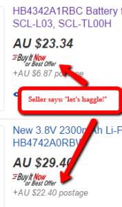 Haggle option enabled